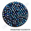 SWAROVSKI ELEMENTS - Crystal rocks, černý, crystal bermuda blue, 30mm