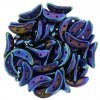CzechMates Crescent, Iris Blue, 3x10 mm, 24ks