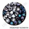 SWAROVSKI ELEMENTS - Crystal rocks, černý, crystal bermuda blue a crystal CAL, 15mm