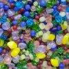 Dětský set na navlékání - korálky - mix barev a velikostí