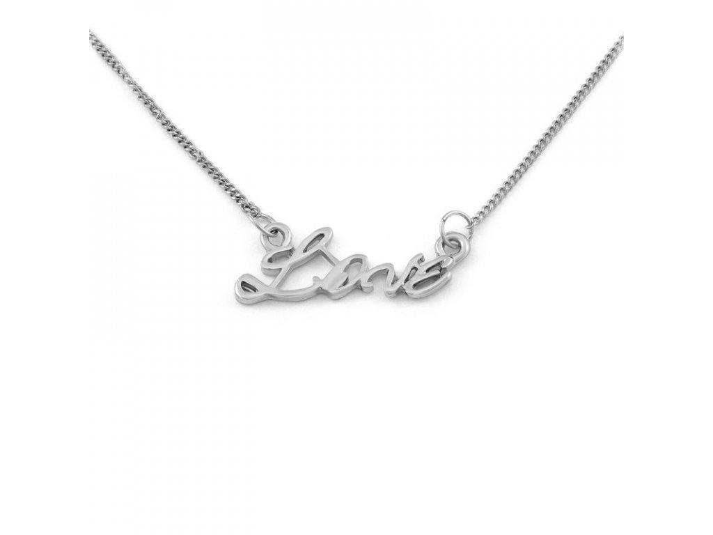 Řetízek Love - stříbrná