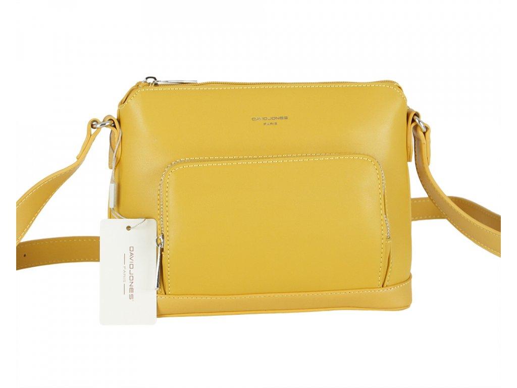 David Jones dámská kabelka 6307-1 žlutá