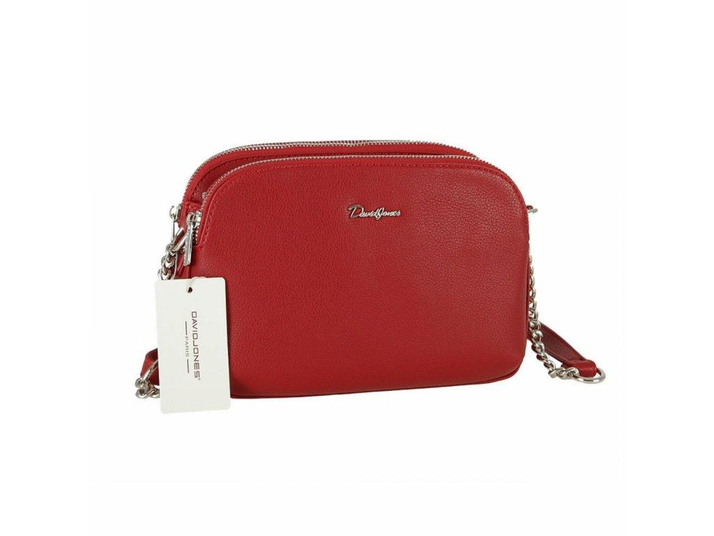 David Jones dámská kabelka 6412-2 červená