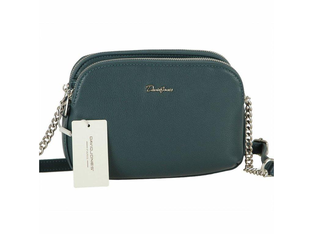David Jones dámská kabelka 6412-2 modro-zelená