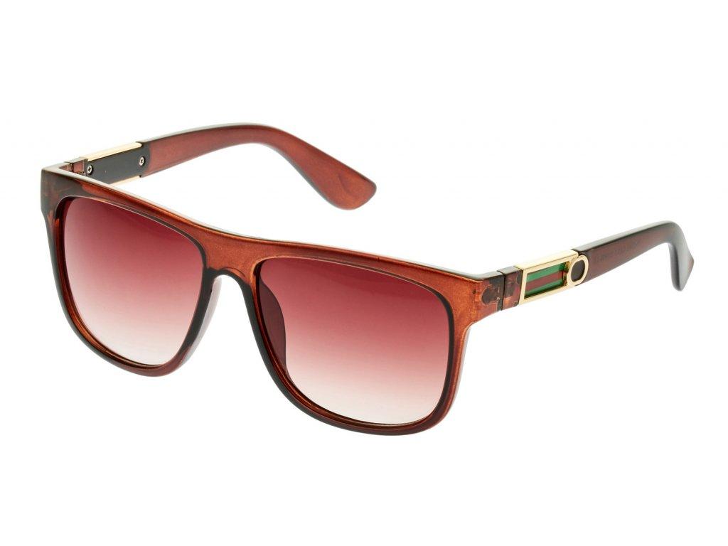 Dámské sluneční brýle-hnědá, hnědá obruba TR2145 9001239-2
