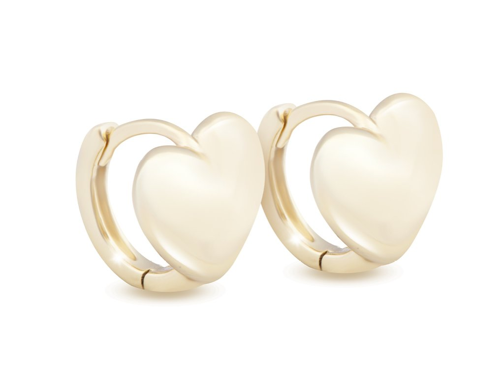20706 pozlacene nausnice 14k srdce