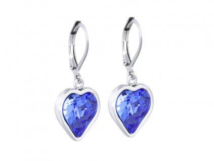 20862 nausnice z chirurgicke oceli srdce tmave modra