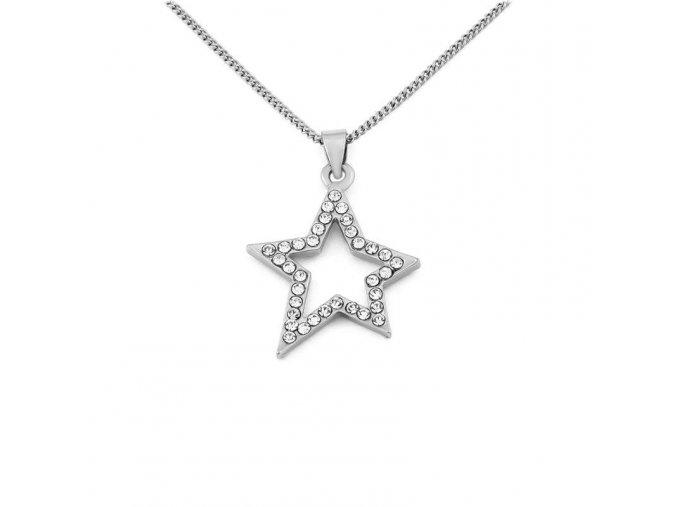 Řetízek Star - stříbrná