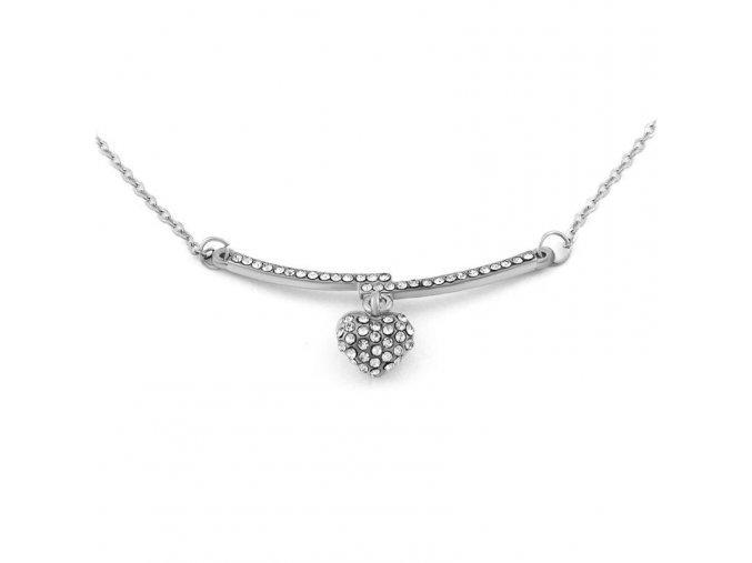 Řetízek Silver heart