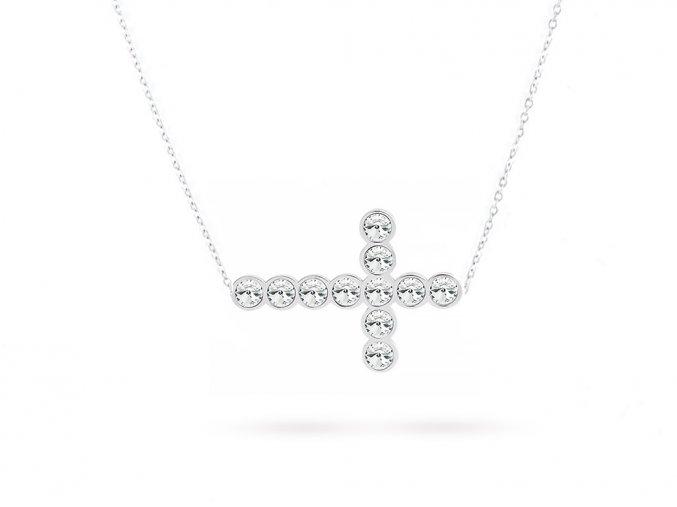 chirurgická ocel řetízek křízek zirkon 3000631