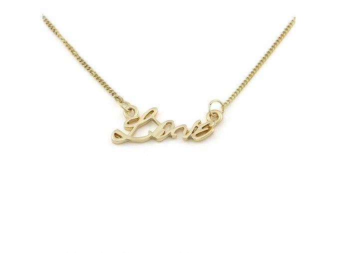 Řetízek Love - zlatá