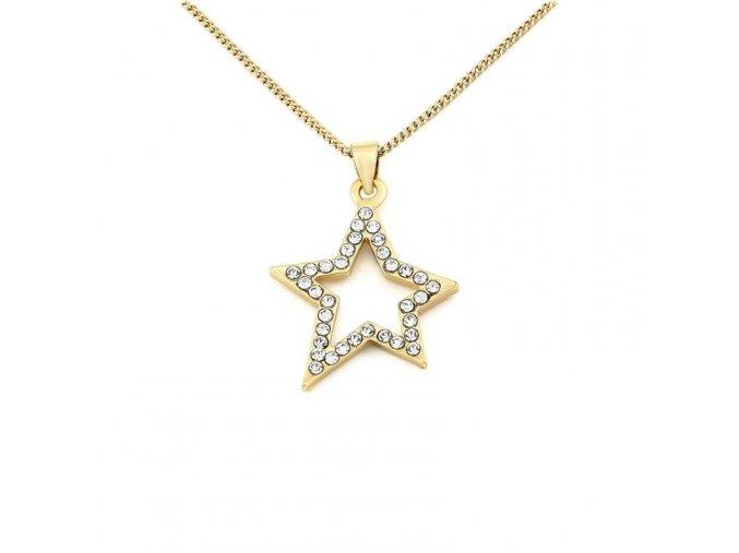 Řetízek Star - zlatá