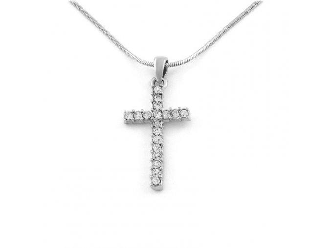 Řetízek Křížek - stříbrná