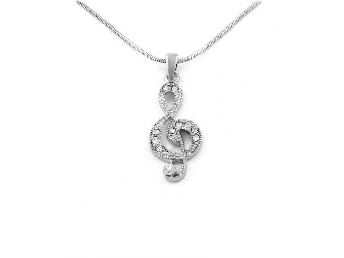 Řetízek Houslový klíč - stříbrná