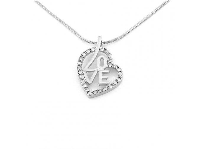 Řetízek Love in Heart - stříbrná
