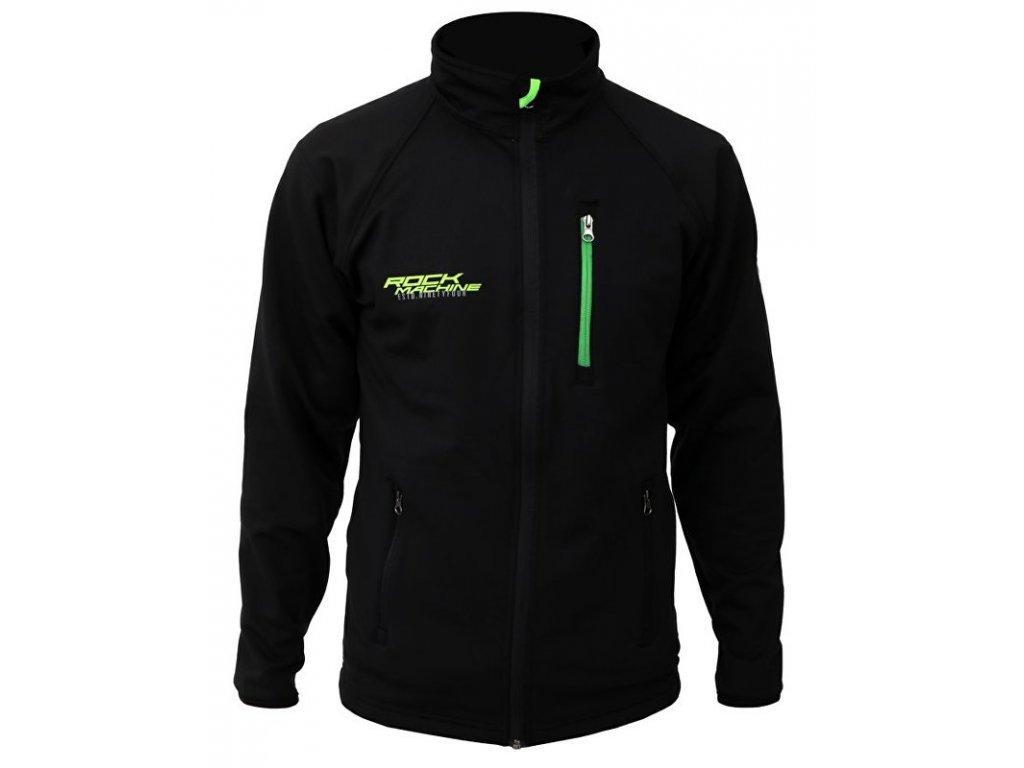 mikina ROCK MACHINE černo/zelená