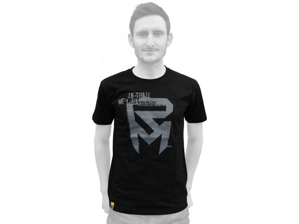 tričko ROCK MACHINE pánské černé  logo IN-TRAIL