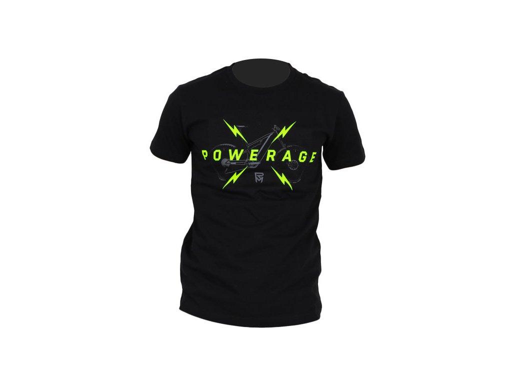 tričko ROCK MACHINE unisex černé  logo POWERAGE