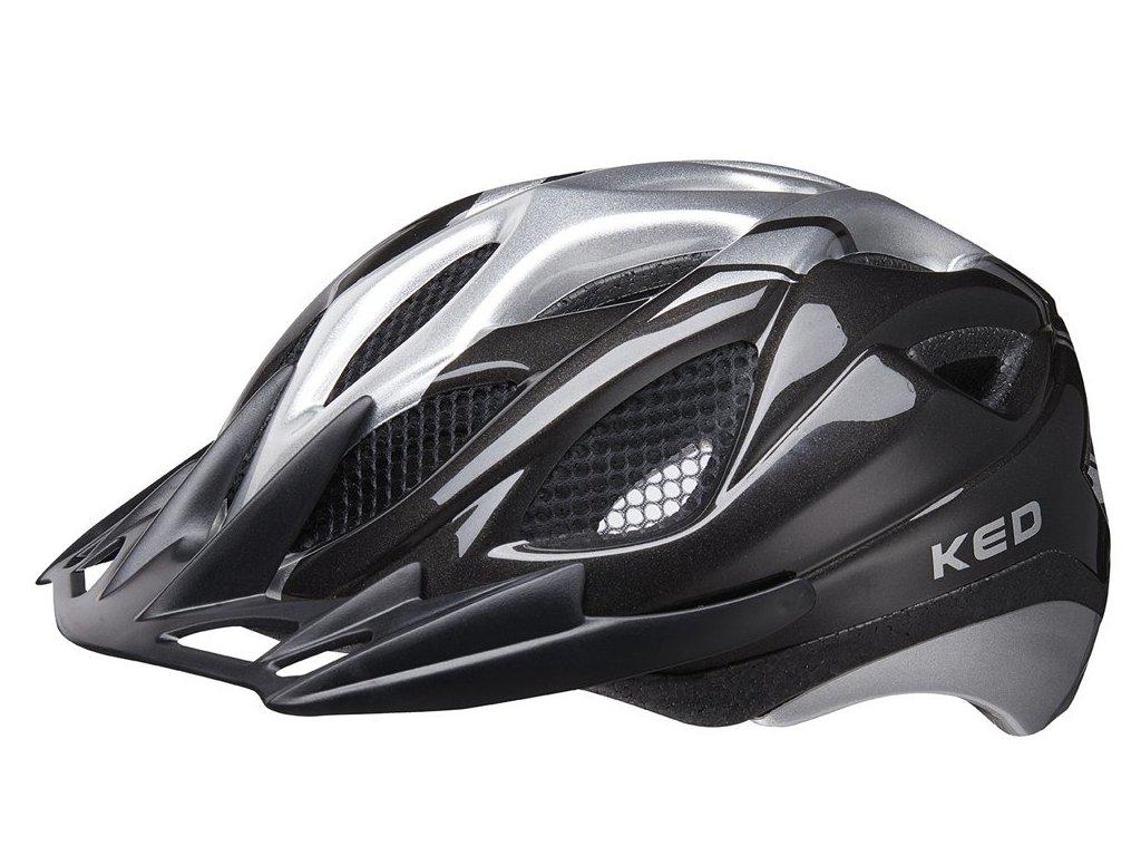 přilba KED Tronus M black silver 52-56 cm
