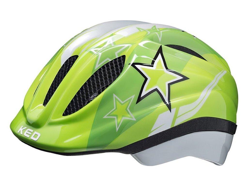 přilba KED Meggy  green stars