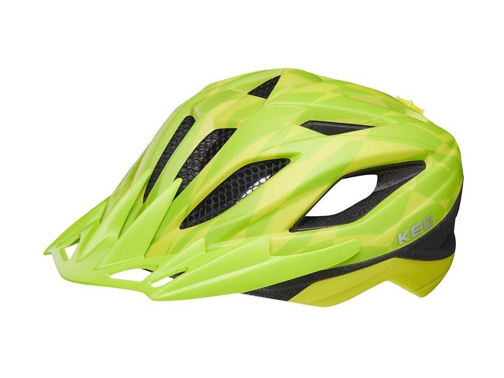 přilba KED Street Junior Pro M yellow green 53-58 cm