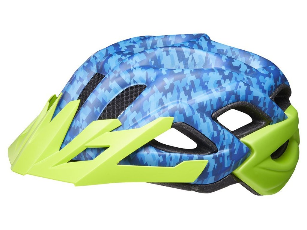 přilba KED Status Junior M camouflage blue green 52-59 cm