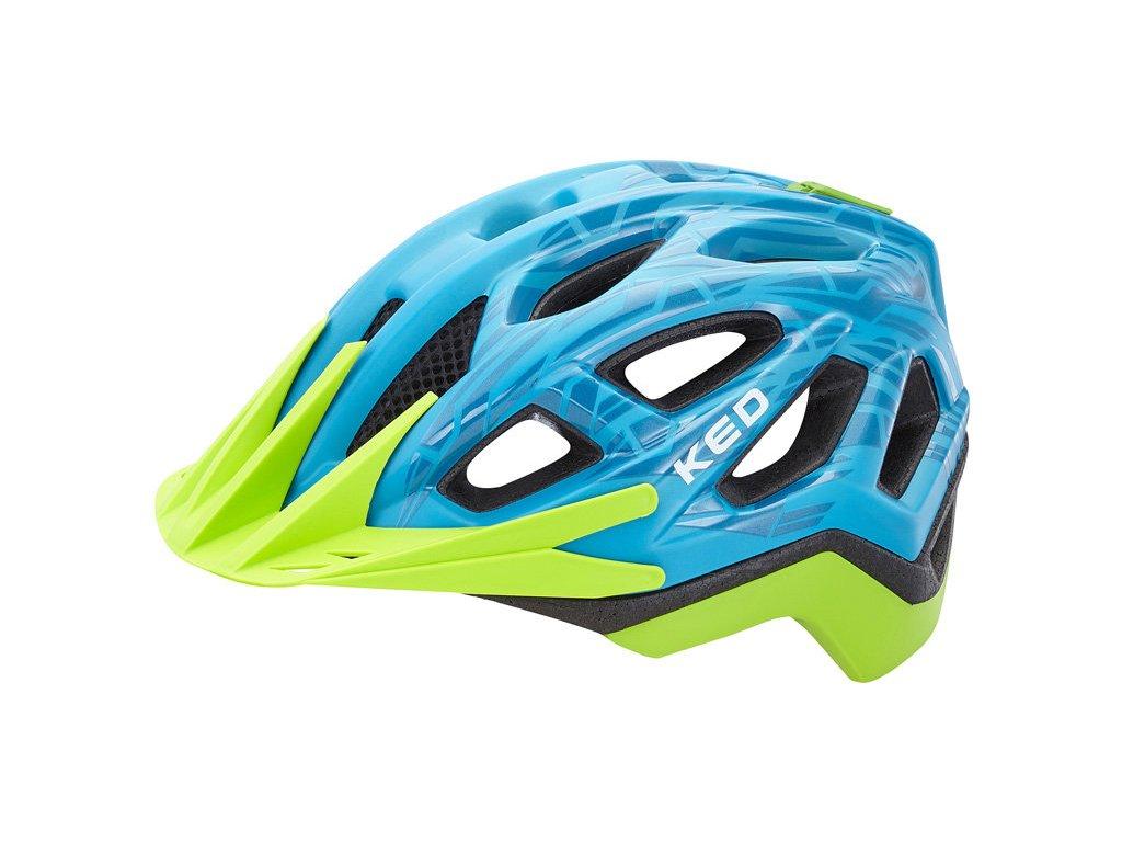 přilba KED Pylos  Blue Green Matt Glossy