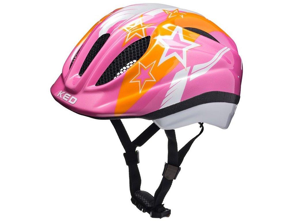 přilba KED Meggy  Pink Stars