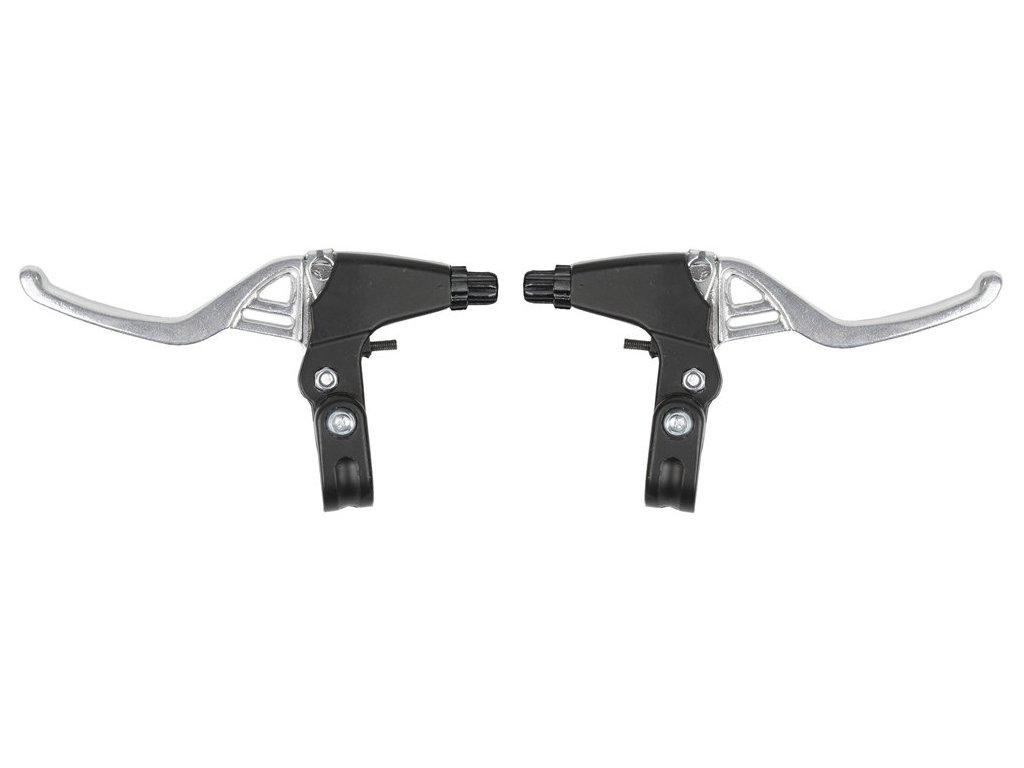 brzdové páky V-brake i cantilever Alu+Alu stříbrné