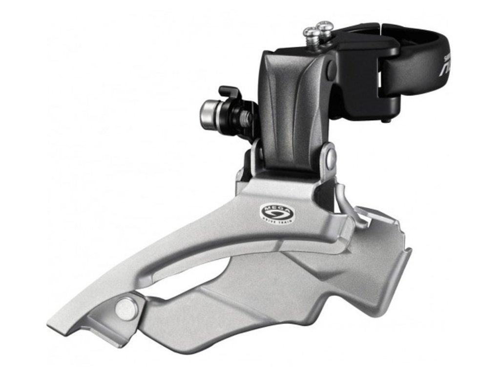 přesmykač SHIMANO Altus FD-M371 34,9mm (s adaptéry 28,6 a 31,8 mm) Dual pull, v krabičce