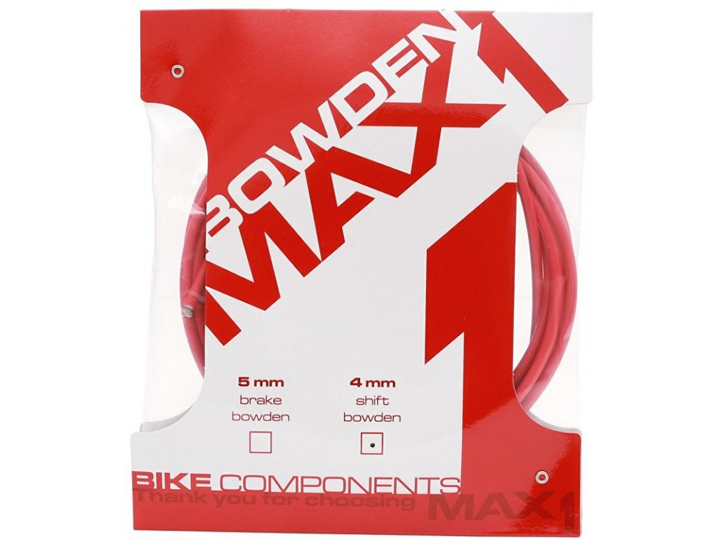 bowden MAX1 4mm červený balení 3m