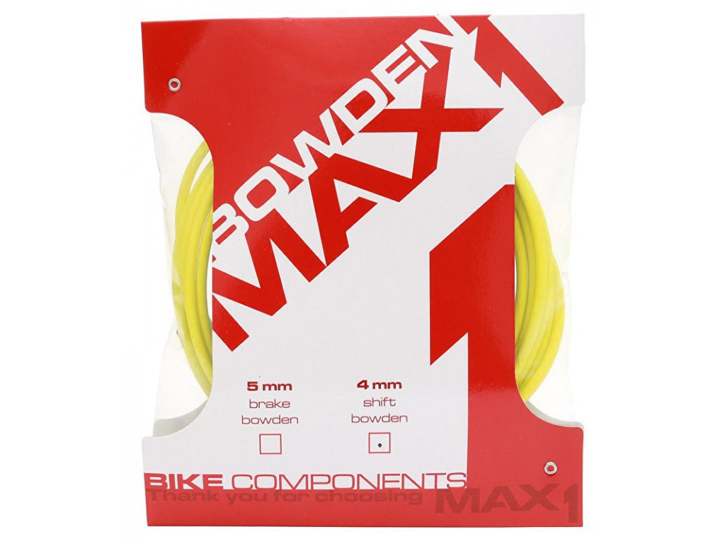 bowden MAX1 4mm žlutý balení 3m