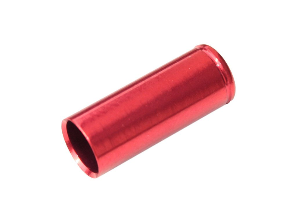 koncovka bowdenu MAX1 CNC Alu 5mm utěsněná červená