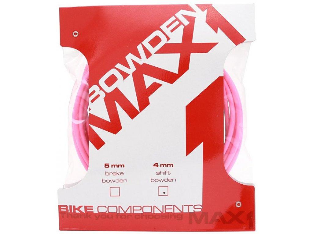 bowden MAX1 4 mm fluo růžová balení 3 m