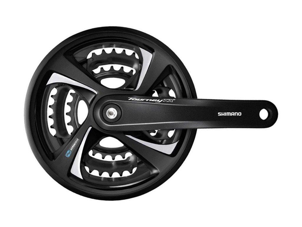 kliky SHIMANO TX FC-TX801-L 175mm 48x38x28 zubů, černé s krytem