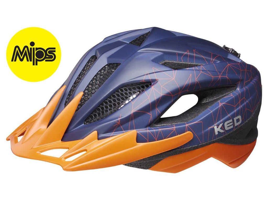 přilba KED Street Junior MIPS  blue orange