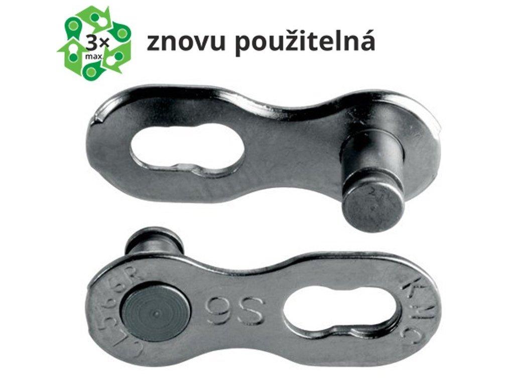 spojka řetězu KMC 9 speed EPT povrch, šedý, balení 2 ks, cena za balení