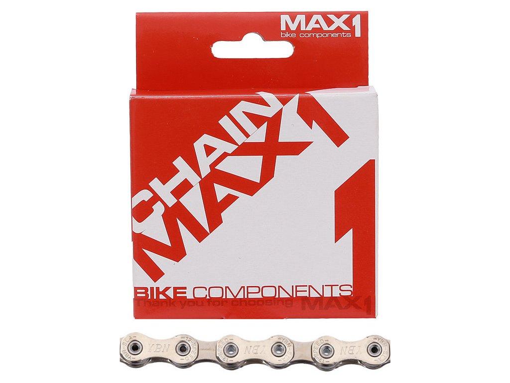 řetěz MAX1 12 speed, 126L, stříbrný, se spojkou
