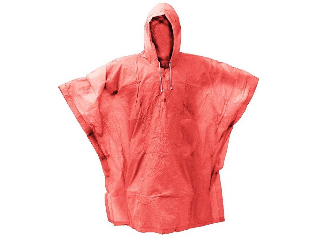pláštěnka PVC pončo neonově růžová