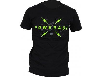 tričko ROCK MACHINE pánské černé vel. XXL logo POWERAGE