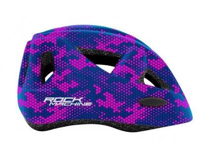 přilba ROCK MACHINE Racer fialová