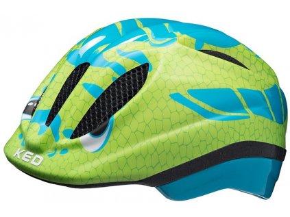 přilba KED Meggy Trend  dino light blue green