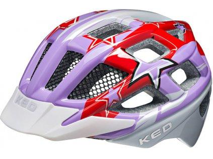 přilba KED Kailu S Purple Red Stars 49-53 cm