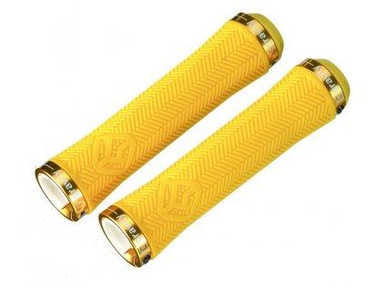 Rukojeti GRAVITY Light Thin LockOn, Yellow