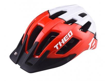 Cyklistická přilba Extend THEO red-polar white,  shine