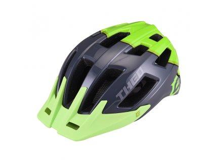 Cyklistická přilba Extend THEO grey-grass green,  shine