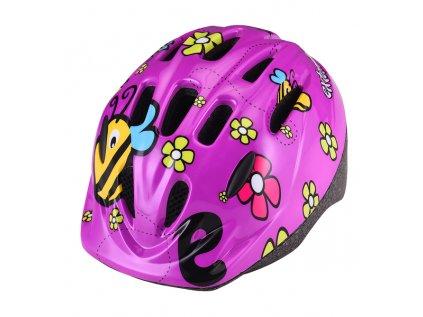 Přilba Extend LILLY fialové květy,