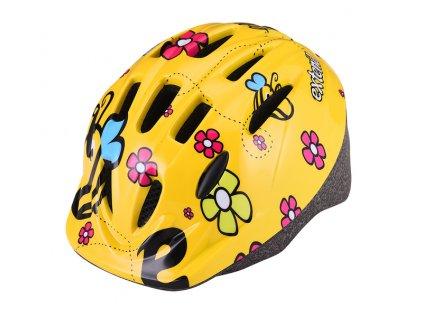 Přilba Extend LILLY žluté květy