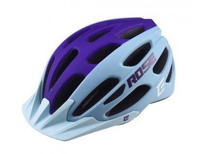 Cyklistická přilba Extend ROSE light blue-night violet, XS/S (52-55 cm) matt