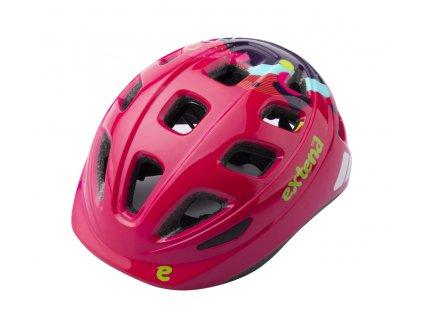 Přilba Extend COBBY, multi-pink,  shine